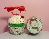 "Christmas Cupcake Ornament - ""It's Beginning To Look A Lot Like Christmas"""