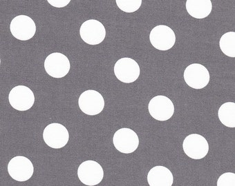 Grey Fabric with White Dots by Michael Miller