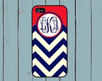 Galaxy S7 Case Galaxy S6 Case iPhone 6 Chevron Navy Personalized Case Monogram iPhone 5s Case iPhone 6+ Case S5 Galaxy iPhone SE Case