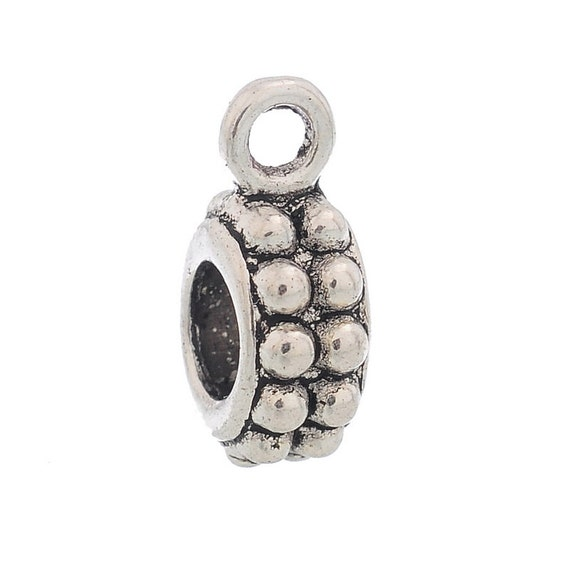 Items Similar To 10 Pcs CHARM Holder, Silver Tone (antique