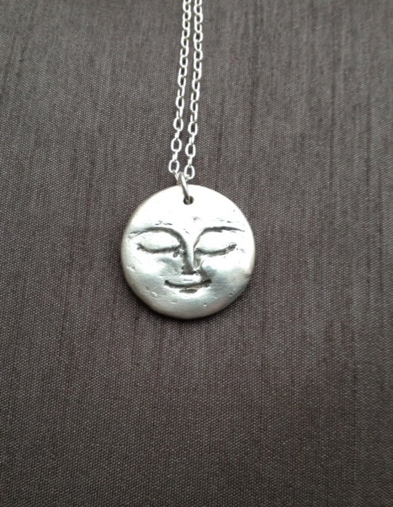 Reserved for sarahfull moon pendant only fine silver 999 for Fine silver 999 jewelry
