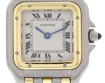 Ladies 18k Yellow Gold & Stainless Steel Cartier Panthere