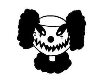 "Evil Clown Scary - Vinyl Decal Sticker - 4"" x 3.75"" - 24 Colors - [#0269]"