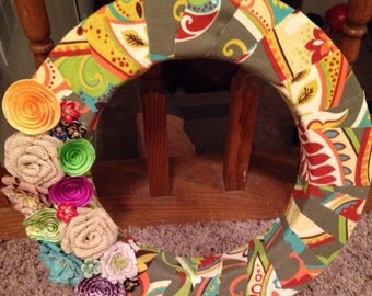 Whimsical floral wreath