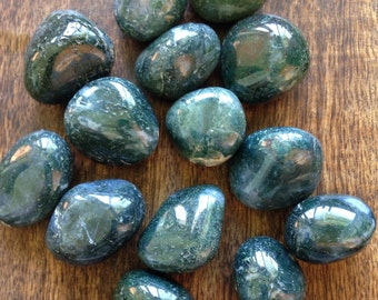 Moss Agate Healing Crystal Stones Concentration Persistence Memory Endurance Endeavors Abundance Stone Wicca Reiki Chakra New Age Got Rockz
