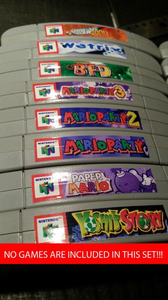 Nintendo N64 Cartridge Spine Top End Labels All U S Games