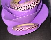 Thin pink polka dot foil washi tape, washi tape, pink foil, thin washi tape, pink polka dot, polka dot, pink washi, polka dot washi, washi