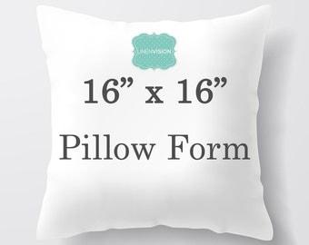 Pillow Insert - 16 x 16 inch Pillow Form - Decorative Pillow Cover Filler - Fiberfill Stuffing - Square Pillow Cover Insert Throw Pillows