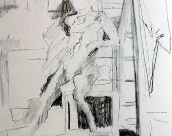 charcoal figure drawing No. 9