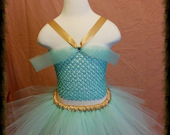 Princess Jasmine Costume with Long or Short Skirt