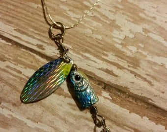 Fishing lure charm