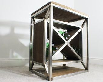 Dulla X Frame Industrial Wine Rack Storage Unit