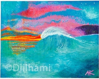 Twilight Dreaming - small art print (8.5 x 10.5 inch)