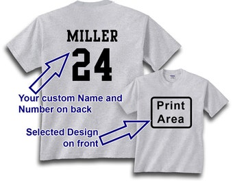 Personalize Back of a Already Purchased Apparel with 1 Name and Number