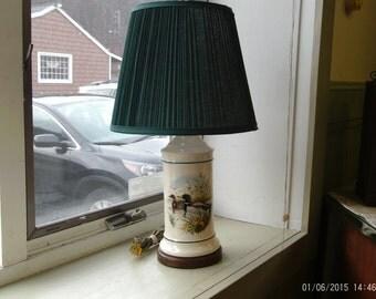 Pfaltzgraff Electric Lamp Mallard Scene