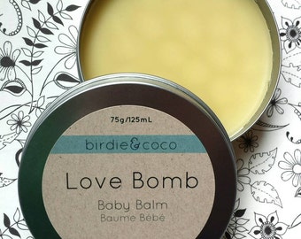 Baby Balm - 4oz - Organic Soothing and Moisturizing Herbal Skin Salve for Baby