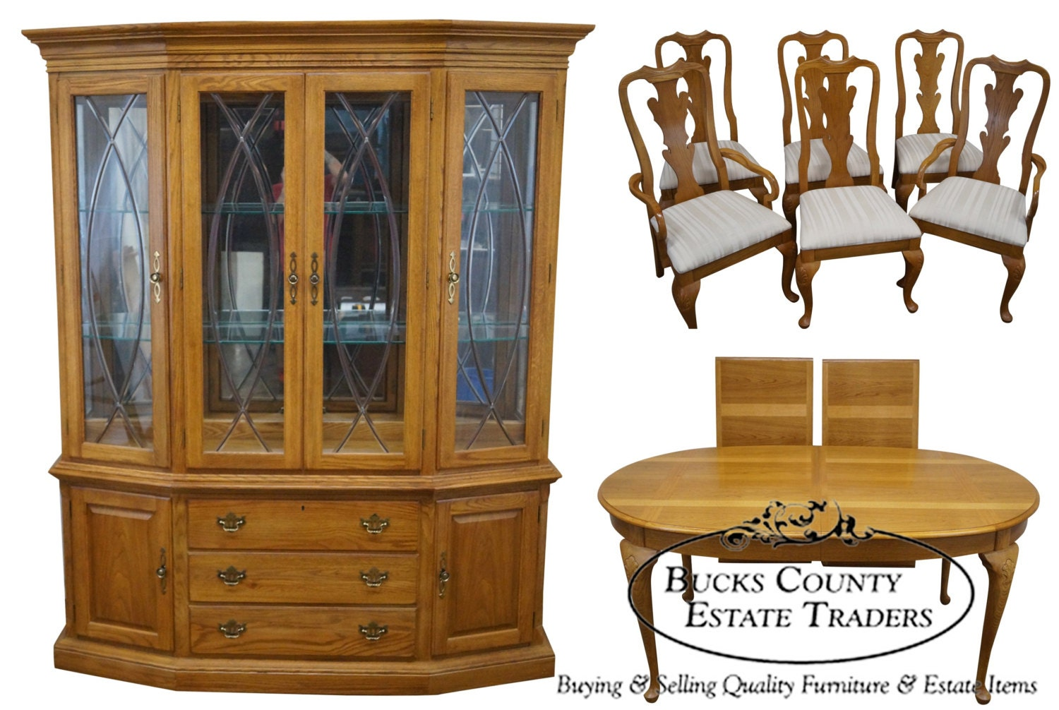 Thomasville Traditional Oak 8 Piece Dining by  : ilfullxfull772017482cy4r from etsy.com size 1500 x 1006 jpeg 292kB