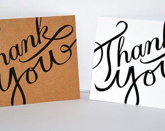 Calligraphy Thank You Notecards | Thank You Notes and Envelopes