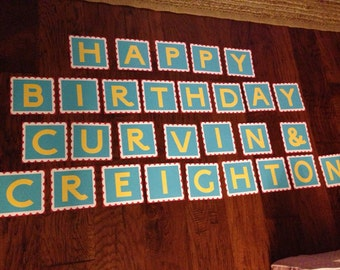Double Strand Birthday Circus/Carnival Banner