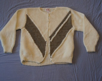 Vintage 1990's - Images Handknit Cardigan Ladies Medium.