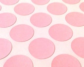 Pastel Fairy Floss Pink 25mm Round Circle DIY Printable Sticker Envelope Seal Labels - Sheet of 63