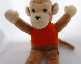 Vintage Dakin light brown  monkey 1979