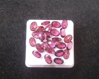 4x6mm (5 pcs) Natural Pink Rhodolite Garnet Faceted OVAL Shape AAA Quality gemstone.....