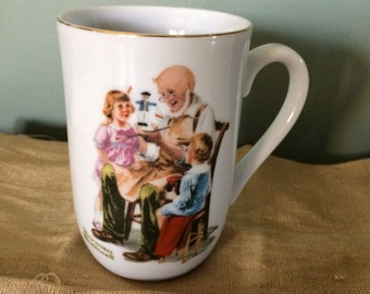 Vintage 1982 Norman Rockwell Cup, The Toymaker-Norman Rockwell Museum. Reduced!