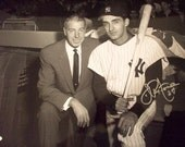 Joe Pepitone Signed Yankees 16x20 Photo w/Joe DiMaggio, Baseball, MLB, Autograph, Authentication, New York, Yankees