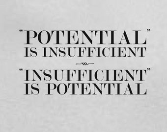 Potential is Insufficient Insufficient is Potential Tshirt