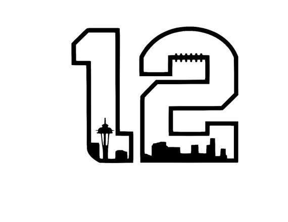 Seattle Seahawks 12th Man 2 Vinyl Car Decal