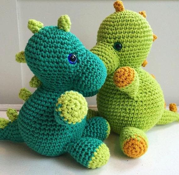 Crochet dinosaur stuffed animal by WoodsideManorShop on Etsy