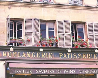Paris Photography, Paris Patisserie, Photography Print, Kitchen Wall Decor, Wall Art Print, Pastel Decor, France Photo, Bakery Picture