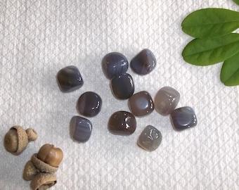 Gray Agate- Three Polished Stones