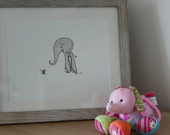 Baby Elephant meets a tiny Mouse