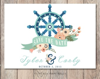 Save the Date, Nautical Save the Date, Getting Married, Save the Date Wedding, Anchor, Trendy Save the Date, Anchor Save the Date, Engaged