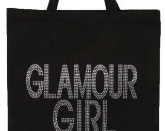 GLAMOUR GIRL Rhinestone Tote Bag