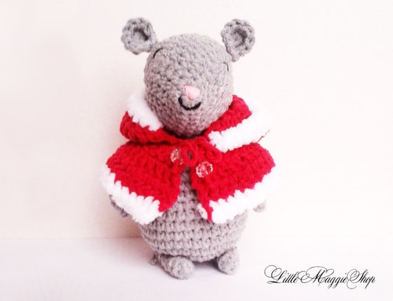 Amigurumi crochet mouse plush toy by LittleMaggieShop on Etsy