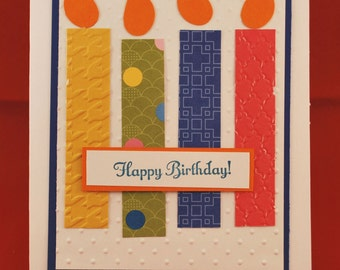Colorful Candles Birthday Card