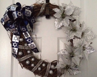 Beautiful & Elegant Hanukkah Wreath