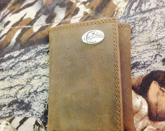 Ducks Unlimited Tri-Fold Wallet-Small DU logo concho