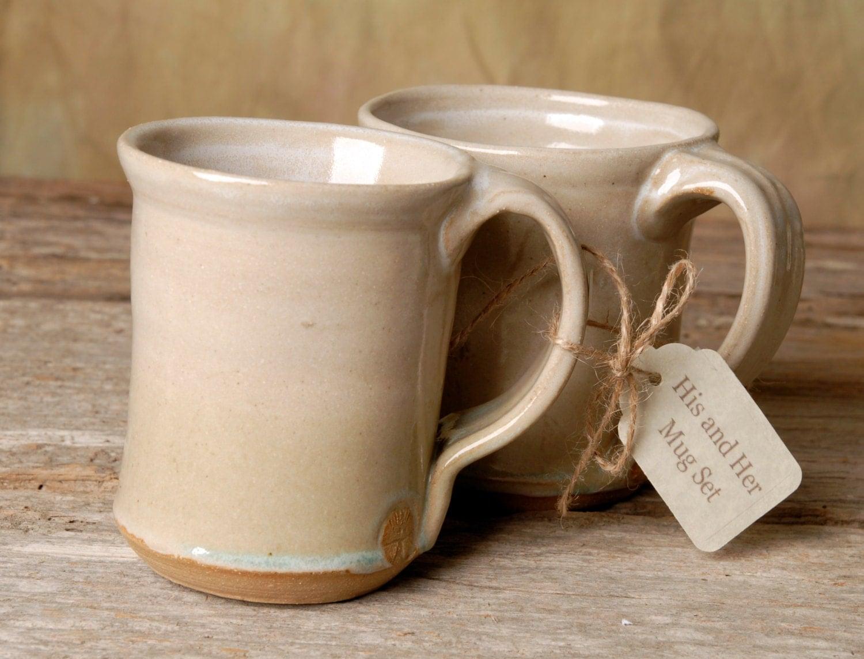 Beautiful Handmade His And Hers Ceramic Mug Set Handmade