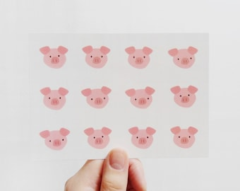Pigs postcard, Hogs greeting card