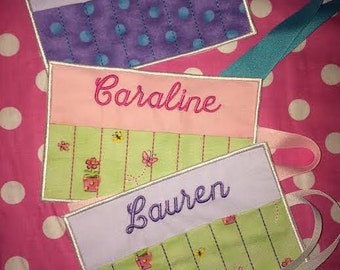 Crayon Roll Personalized with Name Monogrammed