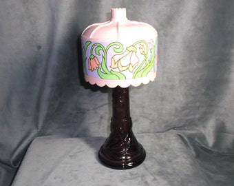 Vintage Avon Tiffany Lamp EMPTY of Moonwind Cologne