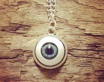 Evil Eye Pendant on Sterling Silver Chain