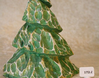 Hand Carved Wood Christmas Tree #172