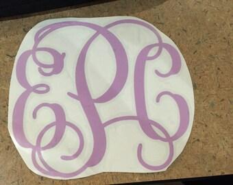 SALE 2 inch Vine Interlocking Monogram Decal