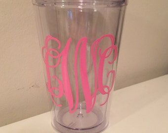 Kids Monogram Tumbler with Straw