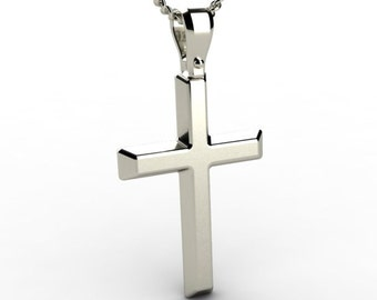 Christening White Gold 14K Karat Men Cross